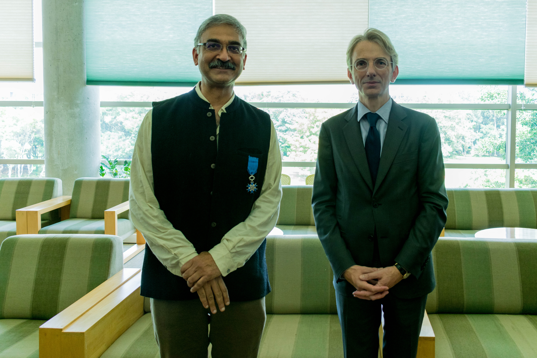 Congratulations! Satyajit Mayor conferred the Chevalier de l'Ordre national du Mérite